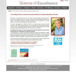 Science of Excellence Website Snapshot